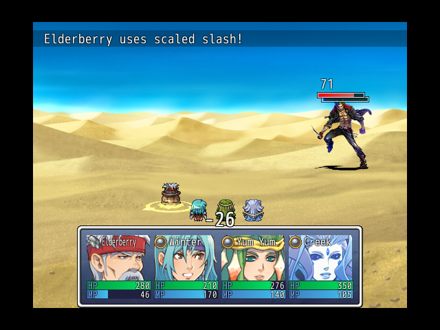 Players in battle